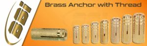 Brass Anchor with Thread