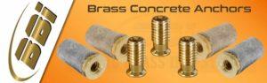 Brass Concrete Anchors