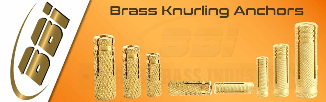 Brass Knurling Anchors