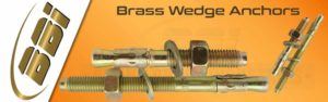 Brass Wedge Anchors